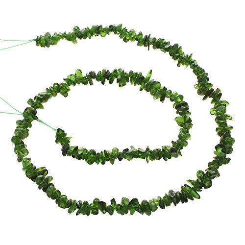 (Calvas Stone Chips Beads Womens Jewelry Fashion Diopside Nuggets Natural Approx 200PCs/Strand Sold Per Approx 15.5 Inch Strand)