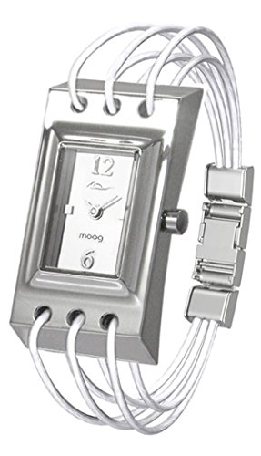 Moog Paris - Filament - Women's Watch with white dial, white strap in Genuine calf leather, made in France - M41452-105