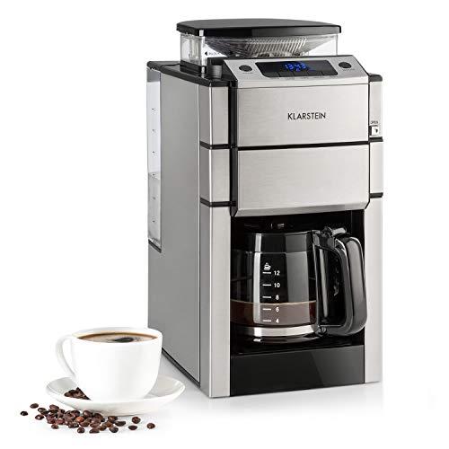 KLARSTEIN Aromatica X Máquina de café con molinillo conico- 3 Niveles de molido, Temporizador Regulable, Pantalla LED…
