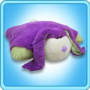 Pee Wee Genuine Pillow Pet Purple BUNNY Small 11""