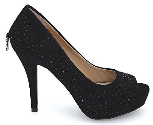 Art Gamuza jo De Liu 35 Negro Mujer Zapato Black Tacón S62017 Para P0021 Nero ZwwFqH8Y