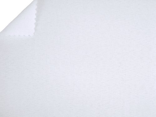 "White 60"" Wide Premium Woven Poly Poplin Fabric By the Yard - Polyester Woven Fabric"