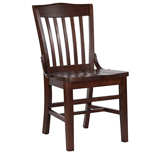 Chairs Schoolhouse Restaurant (Flash Furniture HERCULES Series School House Back Walnut Wood Restaurant Chair)