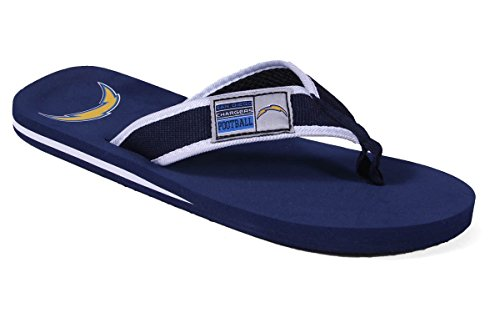 San Flops Licensed and Chargers Flip Feet Comfy Contour Diego Officially Happy Feet NFL vTI1avqw