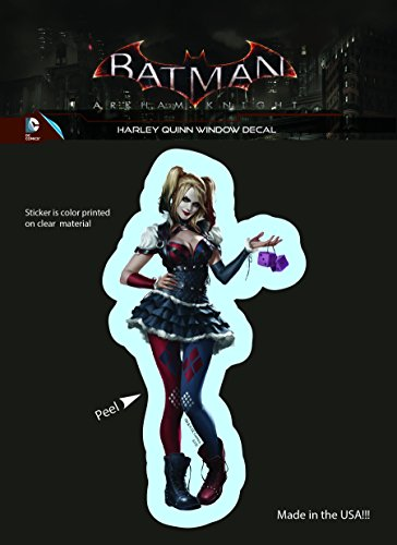 DC+Comics Products : DC Comics Arkham Knight Harley Quinn Car Window Sticker Decal