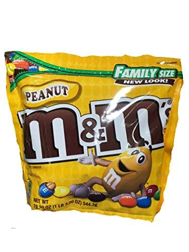 M&M Peanut Chocolate Candies (Pack of 14) by Generic (Image #1)