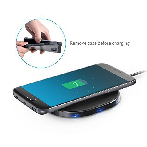 Large Product Image of Anker PowerPort Wireless 10, Anker Qi-Certified Wireless Charging Pad for iPhone 8 / 8 Plus, iPhone X, Samsung Galaxy S9 / S9+, and Other Devices, Provides Fast-Charging for Galaxy S8 / S8+ / S7 / S7