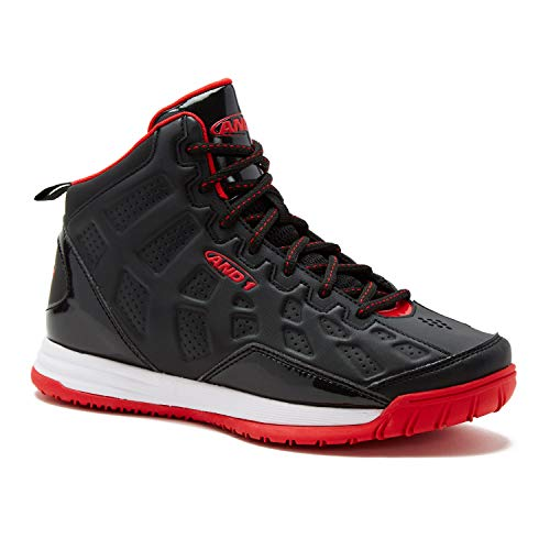 - AND1 Kids Show Out Basketball Shoe, 1 M US Little Kid Black/Red/White