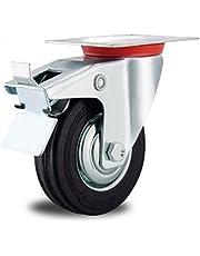 EXCOLO Rol transportwielen massief rubber banden 80-200 mm rubber zwart kogellagers