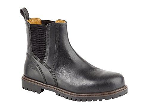 Samson 7047 S3 SRC Black Leather Steel Toe Chelsea Dealer Safety Boots Work Boot (US - Samson Black