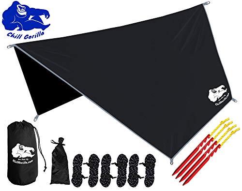 Chill Gorilla Hex Hammock Rain Fly Tent Tarp Waterproof Camping Shelter. Essential Survival Gear....