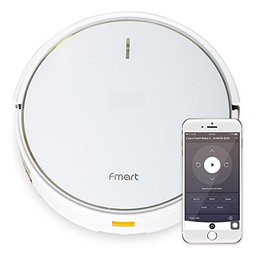 Fmart Pro Robotic Vacuum Cleaner with Self-Charging, Mop and Water Tank, Robot Vacuum Cleaner for Hard Floor, Low-pile Carpet, APP Control, Wi-Fi Connected - Cleaning Robot FM-R570 by Fmart