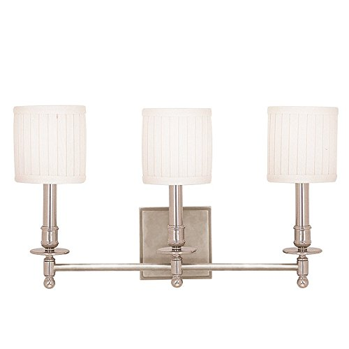 Hudson Valley Lighting 303-SN Three Light Wall Sconce from the Palmer collection 3, Satin Nickel ()