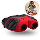 Best Gifts for Teen Girl, Three Ducks Mini Binocular for Kids Toys for 3-12 Year Old Girls to Watching Wildlife or Hiking,Gifts for Teen Boy(Red)