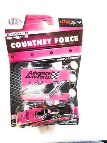 NASCAR Authentics NHRA Courtney Force Diecast Car 1/64 Scale - 2018 Wave 4 - with Free Die-cut Magnet - Collectible