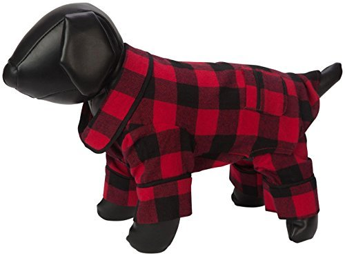 Fab Dog Flannel Dog Pijamas, Buffalo Check, 16 Length by Fab Dog