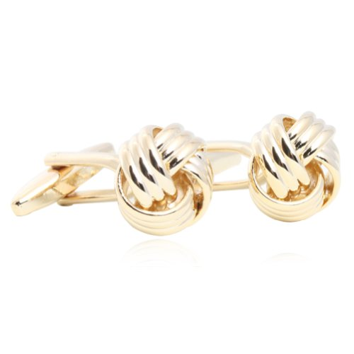 - Gold Knot Shape Cufflinks for Men Jewelry Gift Boxed By Digabi