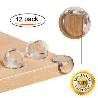 Price comparison product image (12 Pack) Arishine Clear Baby Corner Protectors,  Anti-Collision Cushion against Sharp Furniture Edges