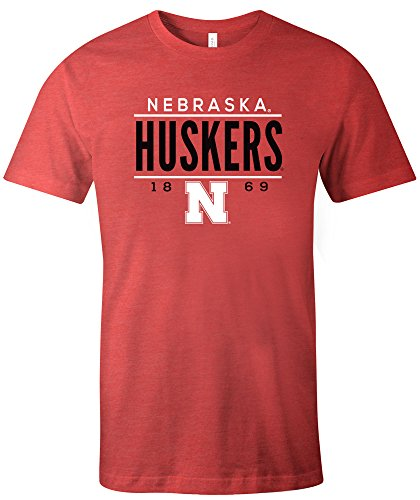 Ncaa Nebraska University (NCAA Nebraska Cornhuskers Tradition Short Sleeve Tri-Blend T-Shirt, Red,Large)