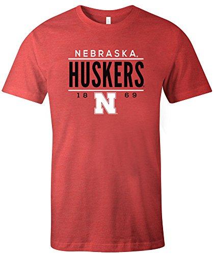 - NCAA Nebraska Cornhuskers Tradition Short Sleeve Tri-Blend T-Shirt, Red,Small