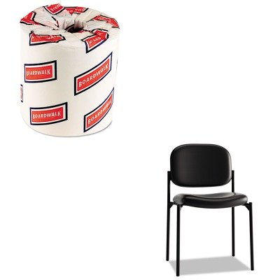 KITBSXVL606SB11BWK6180 - Value Kit - Basyx VL606 Stacking Armless Guest Chair (BSXVL606SB11) and White 2-Ply Toilet Tissue, 4.5quot; x 3quot; Sheet Size (BWK6180) - Basyx Stacking Chair