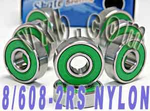 608-2RS Skateboard Bearing, 8x22x7, Sealed (Pack of 8)