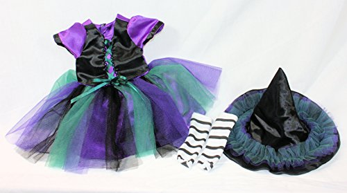 Arianna Coven Witch 3pcs Doll Costume Fits 18 inch American Girl Doll  18 inch Doll clothes   Boutique Quality She's Worth it!   Designed In USA Fit 18 Inch Dolls by Arianna (Image #2)
