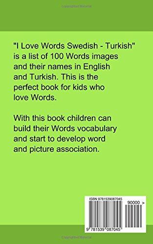 I Love Words Swedish Turkish Swedish And Turkish Edition Gilad Soffer  Amazon Com Books