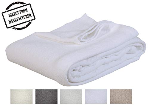 Soft Premium Cotton Blanket - Twin size - Cozy Cotton Bed Blankets - All season- Oversized Throw Quilt - Perfect for layering- 66
