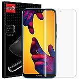 [2 Pack] Huawei P20 Lite Screen Protector, MYLB New Slim Soft TPU [Maximum Coverage] Full cover Screen Protector for Huawei P20 Lite(Note: Non-tempered glass film) (Transparent)