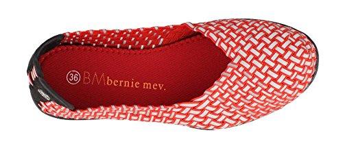 Bernie Mev Frauen geflochtener Laufsteg Rot reflektierend