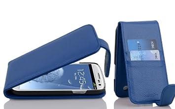 Cadorabo Carcasa Compatible Con Samsung Galaxy S3/S3 Neo En Rey Azul Funda con tarjetero en FLIP CASE COVER Carcasa Funda