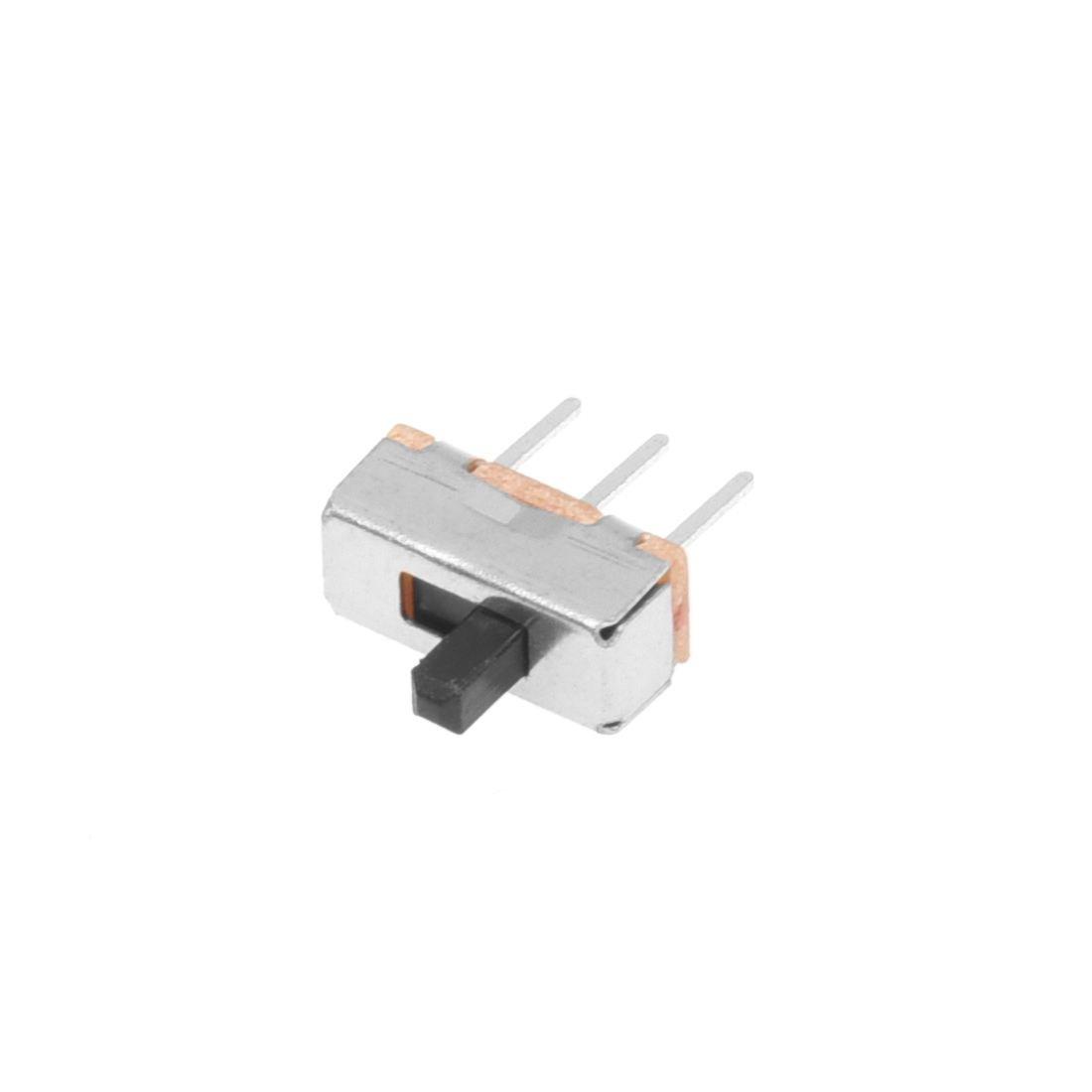 Iycorish 50pzs SS12D00G3 2 posiciones SPDT 1P2T 3 Pines interruptor deslizante vertical del panel PCB