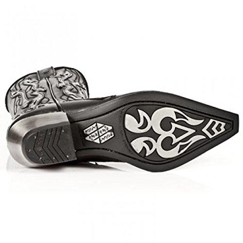 New Rock Boots Hommes Botte - Style 7921 S3 Noir