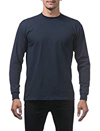 Mens Heavyweight Cotton Long Sleeve Crew Neck T-Shirt