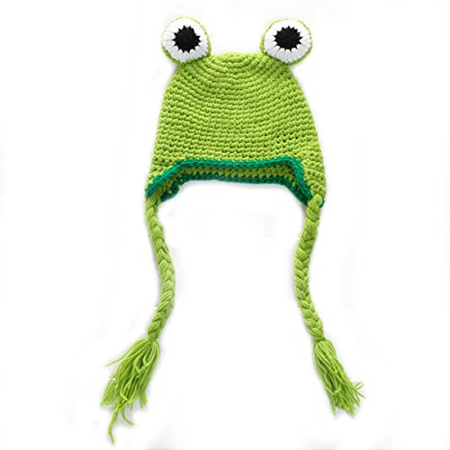 Laymily Handmade Knitting Baby Frog Hat Photography Baby Photo Studio Props