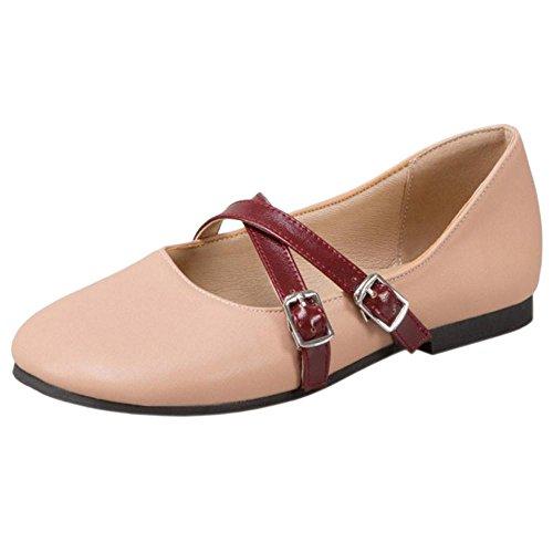 COOLCEPT Damen Mode Flach Pumps Pink