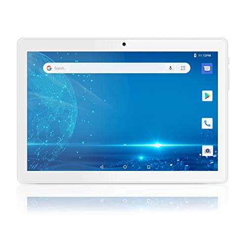 Android Tablet 10 Inch, 5G WiFi Tablet with Dual Camera, 16GB Storage Android 8.1 Tablets PC, Google Certified, Quad-Core Processor, Bluetooth, GPS, FM-Silver
