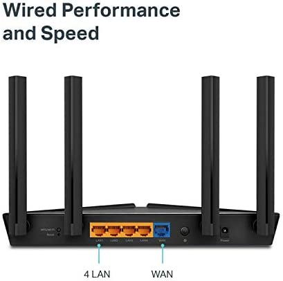 TP-Link Wifi 6 AX1500 Smart WiFi Router (Archer AX10) – 802.11ax Router, 4 Gigabit LAN Ports, Dual Band AX Router,Beamforming,OFDMA, MU-MIMO, Parental Controls, Works with Alexa
