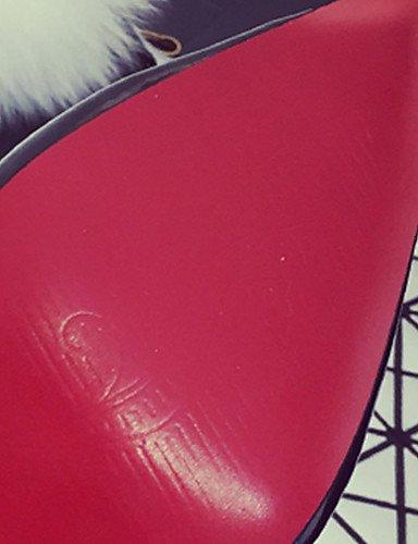 cn39 Casual y Punta Rosa PU Negro uk4 Zuecos GGX uk6 Tacón gray us8 Rojo Vestido pink us6 Gris 5 pantuflas cn39 7 eu39 Mujer Bajo us8 Redonda 5 cn37 5 eu37 eu39 gray uk6 YxqHz