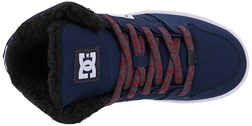 DC Rebound WNT Marine Weiß Kinder Leder SkateTrainer Schuhe Stiefel