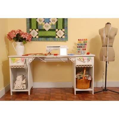 Arrow Cabinet 1001 Olivia Sewing Cabinet, White by Arrow Cabinet