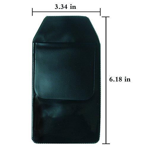 DE 6 Pcs Black Vinyl Pocket Protector for Pen Leaks by Digital Energy (Image #1)