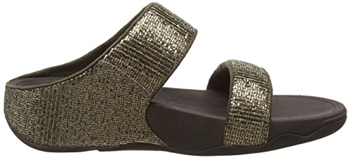 9 US Copper Superglitz Slide Lulu FitFlop Synthetic Sandals Womens RWpq0cnxg
