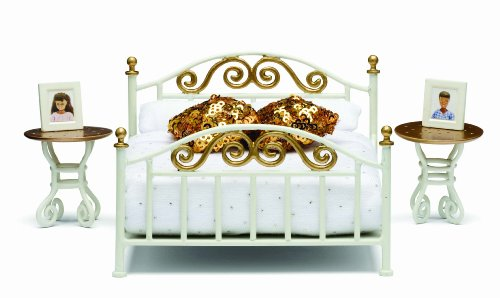 Lundby Smaland Dollhouse Brass Bed Set