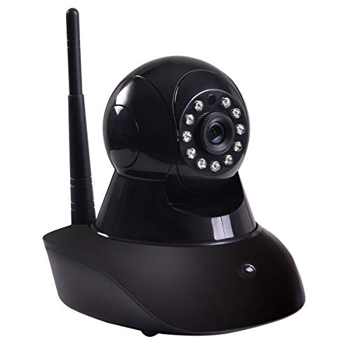 720P Wireless Wifi HD Webcam IR Security Camera Surveillance Night Vision Black by Apontus
