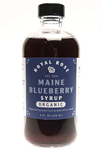 Royal Rose, Wild Maine Blueberry Organic Simple Syrup (8oz) (Blueberry Soda Maine)
