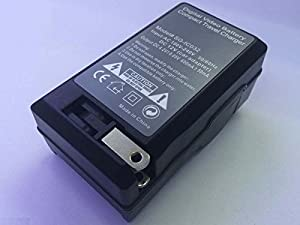 Portable AC SB-LS110 SB-LS220 Battery Charger for SAMSUNG SCL550 SCL610 SCL700 Camcoder by HZQTEK