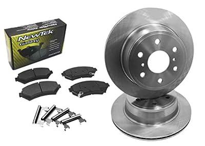 DK1320-1 Front Brake Rotors and Ceramic Pads and Hardware Set Kit
