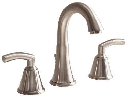 American Standard Metal Pop Up Faucet - American Standard 7038.801.295 Tropic Two-Lever Handle Widespread Lavatory Faucet with Metal Speed Connect Pop Up Drain, Satin Nickel
